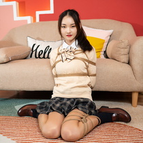 No.00849 I'm A High School Girl Now #1 [24Pics]  Yuzukiちゃん遂に女子高校生になった、制服緊縛記念写真を撮りましょう。