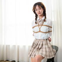 No.00850 School Girl Next Door #2 [20Pics] 隣の女子高校生Anzuさん今日も元気ですね、緊縛画像を撮る状態がとてもいいです。