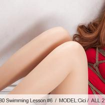 No.00280 Swimming Lesson #6 [27Pics]  スクール水着に膚のパンストを着て素敵な女子高生は、レッスンを泳いで縛られています。