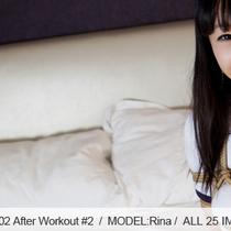 No.00402 After Workout #2 [26Pics] 天然黒髪少女Rinaは体操服を着てにヌードベージュのパンストカバコ、食い込む股縄M字開脚の