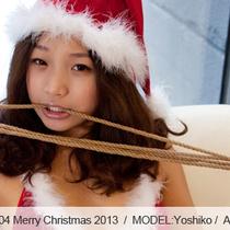 No.00404 Merry Christmas 2013 [28Pics] クリスマスと新年のお喜びを申し上げます、クリスマスガール後高手小手縛り。