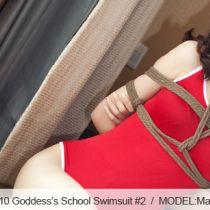 No.00410 Goddess's School Swimsuit #2 [25Pics] 赤いスクール水着,パンストをはいて、超美脚の持ち主である女子校生M
