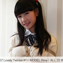 No.00557 Lovely Twintail #1 [25Pics] 素敵なツインテール素顔女子校生は縛られていました、かわいいパンティを露出して彼女のスカ