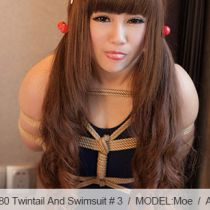 No.00580 Twintail And Swimsuit #3 可愛いツインテール女子校生のスクール水着緊縛姿最高!菱縄縛りの緊縛画像