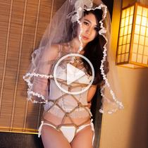 Vol.266 Bondage Bride 白いガードルの花嫁さんはこの緊縛式がすきだ、彼女は今日の着衣緊縛動画の撮影が楽しいです、いい動画になにました。