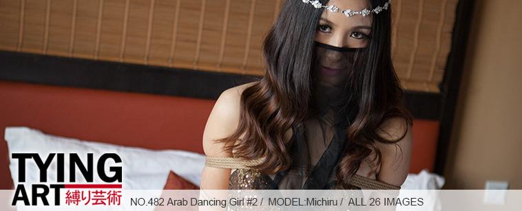 No.00482 Arab Dancing Girl #2 [26Pics] 均整のとれた肉付きの良い身体に細い紗の踊る衣服を身に着け、テーブル上でダンスをする