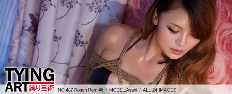 No.00487 Rosen Room #6 このバラの部屋で、アサヒの緊縛時間が始まる、先ずは胡座縛りと後高手小手縛り。