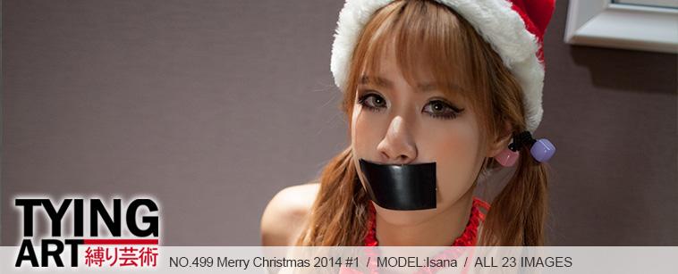 No.00499 Merry Christmas 2014 #1 この可愛い娘は今年のクリスマスプレゼントです、ビキニと緊縛りの組み合わせき、そしてテープギャグ