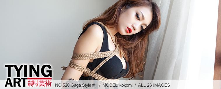 No.00520 Gaga Style #1 今度の緊縛式は後高手小手縛りと股縄です、なんかすこいな感じする。