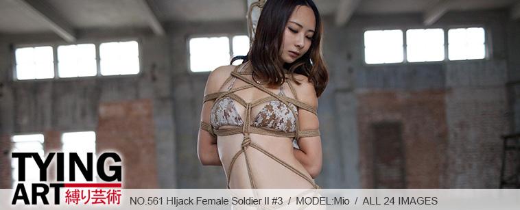 No.00561 HIjack Female Soldier II #3 股縄とテープギャグの感じはどうですか?ビキニの女戦士も緊縛を厳しいと思います。