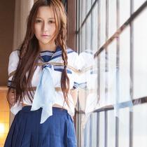No.00686 Mixed Sailor #1 [28Pics] この女子校生なんか混血児の感じですね、しかも緊縛写真撮るなんで珍しいと思わない?とにかくこの画像を楽しみ!