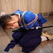 No.00605 Female swordsman #1 女剣士が縛られた、そして、着衣緊縛画像を~