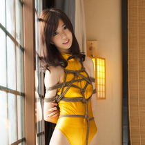 No.00622 Golden Flash #3 [19Pics] ゴールデンレオタードを着ていますの美少女Maiさんは、縛り芸術の画像撮影のためにこのホテルに来ました。また後高手小手縛りで大丈夫かな?