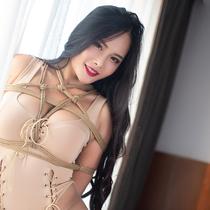 No.00782 Gym Girl #2 [24Pics] フィットネスが好きなRinkoが活躍しすぎて、彼女を縛り上げなければならない。レオタード緊縛画像