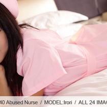 No.00340 Abused Nurse おな日、ピンクの看護師(看護婦)は緊縛されました、彼女おっぱいがっぱいです。