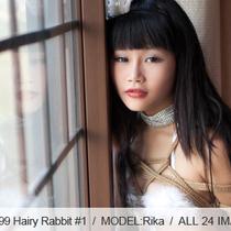 No.00399 Hairy Rabbit #1 和風ホテルの部屋で白いバニーガールが緊縛を初体験しました、最初は乳房縛り。