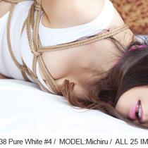No.00438 Pure White #4 [25Pics] Michiru初緊縛、純白の水着とタイツ&ストッキング派のわたくしはちゃんと履いております。