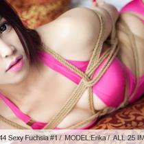 No.00444 Sexy Fuchsia #1 [25Pics] セクシーな水着にパンスト、彼女は部屋の中で緊縛だ。初めて乳房縛り。