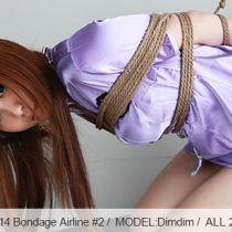 No.00514 Bondage Airline #2 [28Pics] かわいい美貌のスチュワーデスはハイジャックさせられて、フライトの中で縄で縛られます。