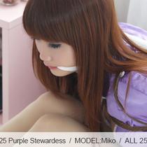 No.00525 Purple Stewardess  パープルスチュワーデスとても可愛いですね、どんどん緊縛を好きになる。 後手直伸縛りはできだ、布猿轡と一緒