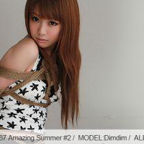 No.00567 Amazing Summer #2 [27Pics] 美少女Dimdim着てビキニが地上に縛られています、逆さ海老縛り。緊縛写真27枚。