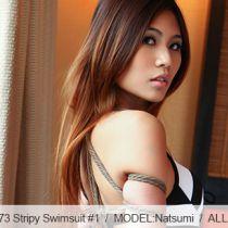 No.00573 Stripy Swimsuit #1 tyingart – 縛リ芸術の緊縛画像をきました、今回はNatsumiさんの水着縛りです、お楽しみくだ