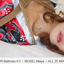 No.00576 Bathrobe #2 縛リ芸術Maiyaの着衣緊縛画像です、浴衣は似合うでしょう?後高手小手縛り